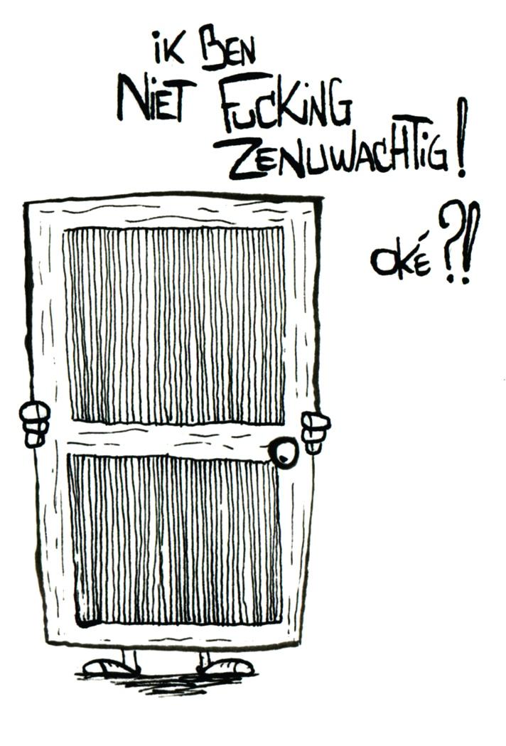 Cartoon van SuperMAARTEN! (Maarten Van Praet, professionele koekjesdoder!)
